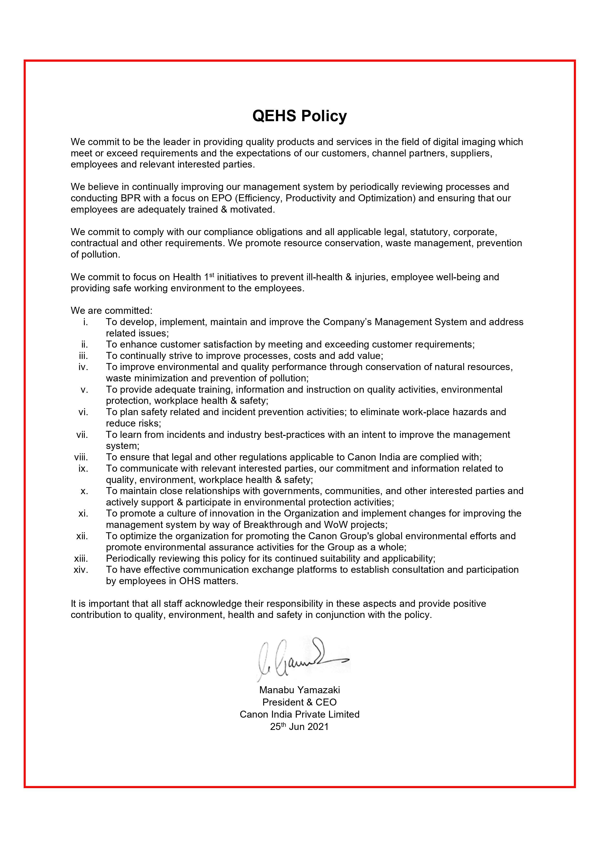 2021 QEHS Policy_QEHS-PO-001
